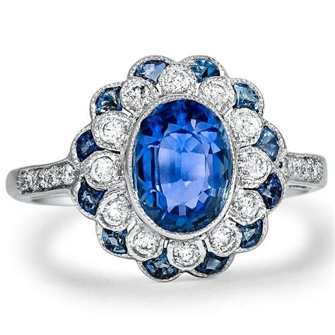 antique sapphire engagement rings brilliant earth