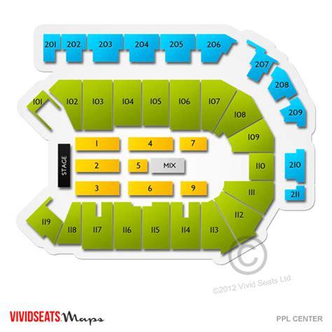 ppl center  ppl center seating chart vivid seats