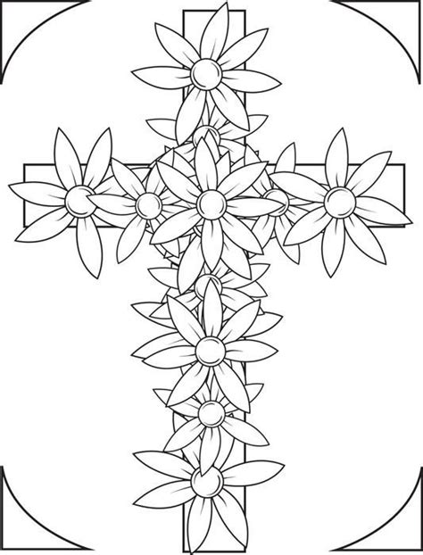 coloring pages for adults crosses cross with flowers coloring page coloring books