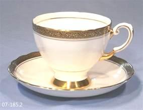 tuscan vintage tea cup amp saucer gold border sold