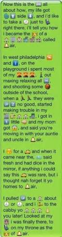 lyrics to prince of bel air theme song the rap for the fresh prince of bel air with emojis song