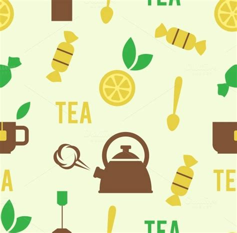 pattern concept in c tea concept in seamless pattern patterns on creative market
