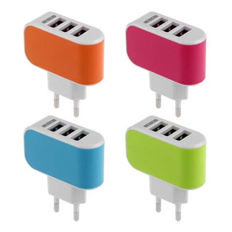 Charger Baterai 1 Port Travel Charger For 1 Lithium Li Ion 18650 smart adaptor charger 3 port usb usb port wall