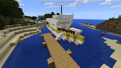 how to make a yacht in minecraft pe yacht minecraft pe