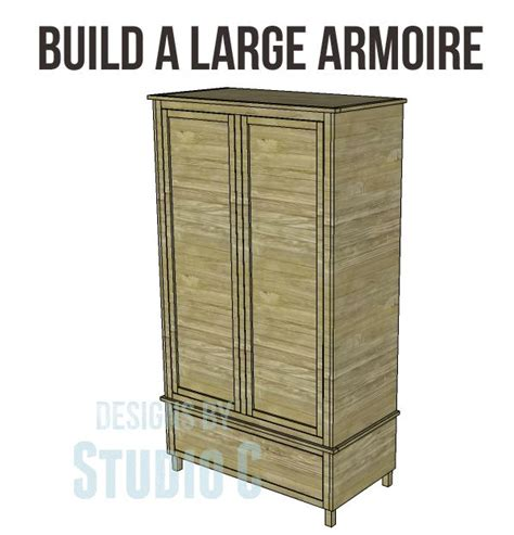 armoire woodworking plans free diy woodworking plans to build a large armoire an