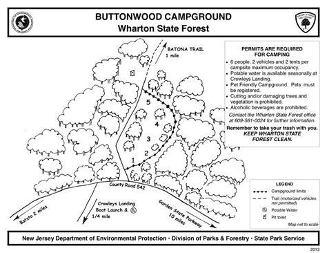 wharton state forest map wharton state forest maplets