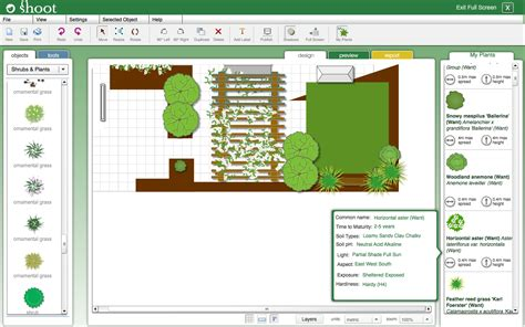 online backyard planner my garden planner garden design software online shoot
