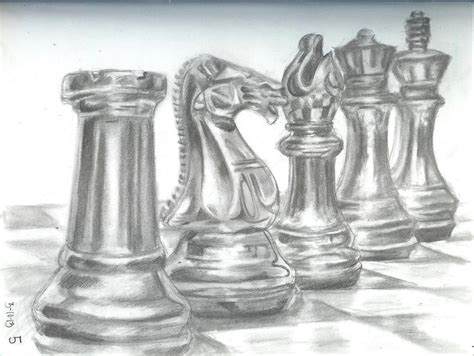 doodle chess value drawing on stippling shading techniques