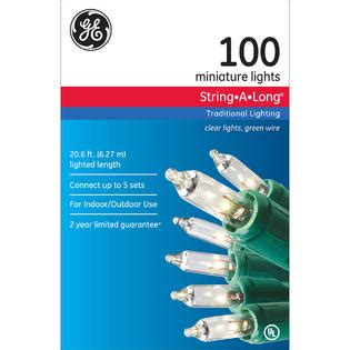 Christmas Light Set With 100 Clear Bulbs Sears Commercial 100 Ct Clear Mini