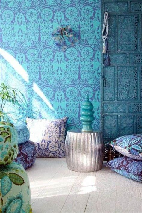 blue wallpaper room blue wallpaper the piped in each room interior design ideas avso org