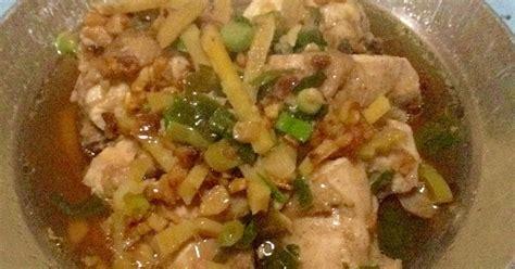 Alat Potong Cincang Bawang Putih Jahe resep ayam tim jahe n bawang putih oleh wu kitchen cookpad