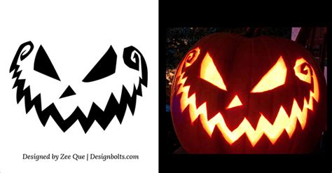 top 10 scary pumpkin carving patterns free download