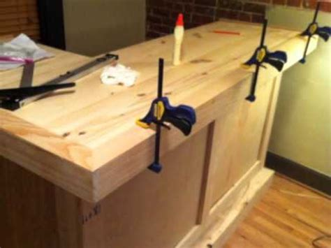 how to build bar top building your own bar basement youtube