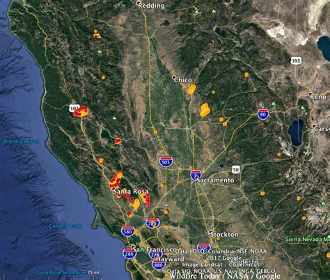 california wildfires map what do the napa and sonoma wildfires for wine drinkers