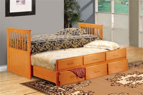 solid wood trundle bed solid wood captains trundle bed with storage oak
