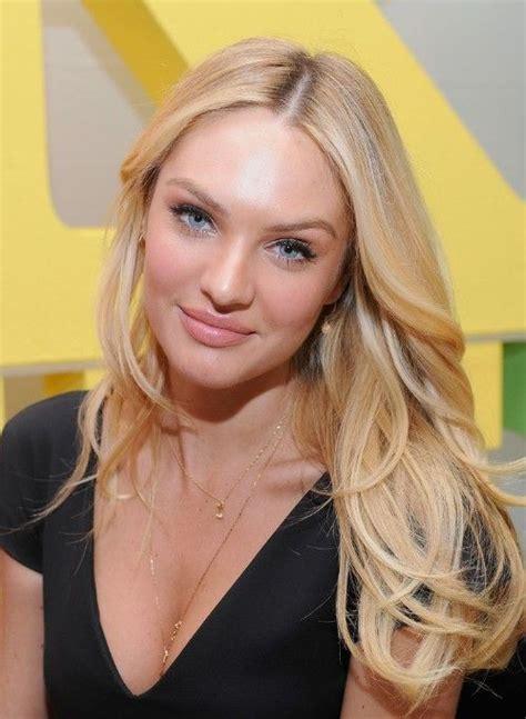 blonde hairstyles middle parting candice swanepoel sexy long blonde center part hairstyle