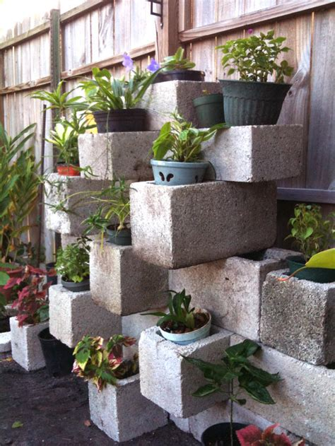Cinder Block Wall Planter by Cinderblocks Outdoor Ideas Planters