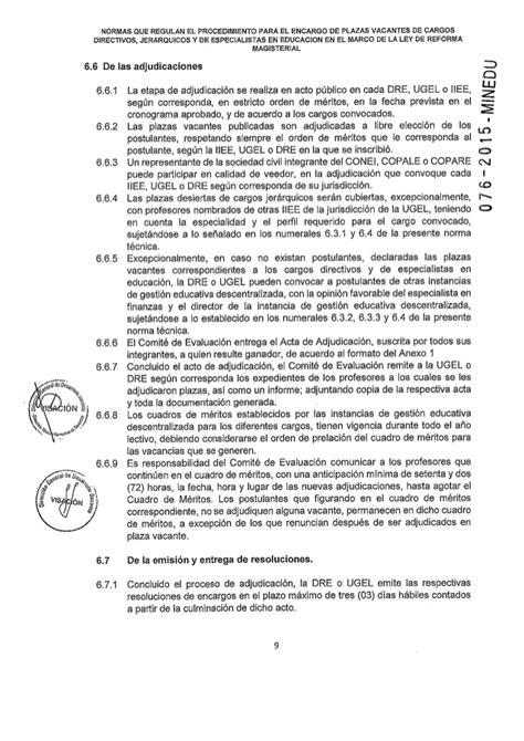 cuadro de meritos evaluacion docente 2015 cuadro de meritos de docentes por ugel minedu
