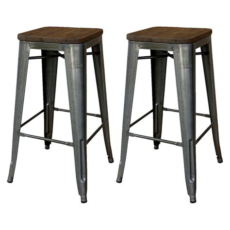Iron Bar Stool With Wood Seat by Wood And Iron Bar Stools Wood Bar Stool Seat Bar Height