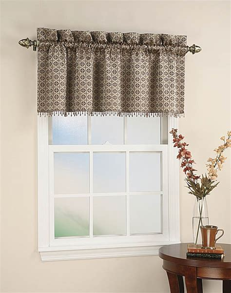 curtain valence mallorca spanish tile beaded window curtain valance