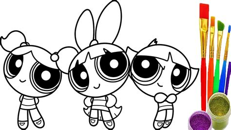 coloring picture power puff coloring pictures