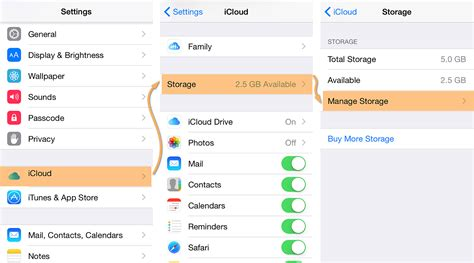 iphone photo storage there is not enough icloud storage available how to back