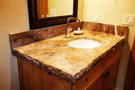 granite counter tops with broken edge house ideas