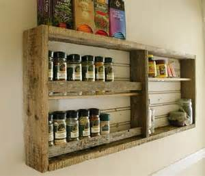 Kitchen Spice Rack Ideas Kitchen Shelves Made From Wooden Pallet Recycled Things