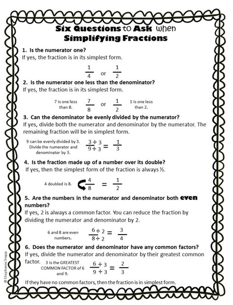 Simplifying Fractions Worksheet by Simplifying Fractions Worksheet And Template