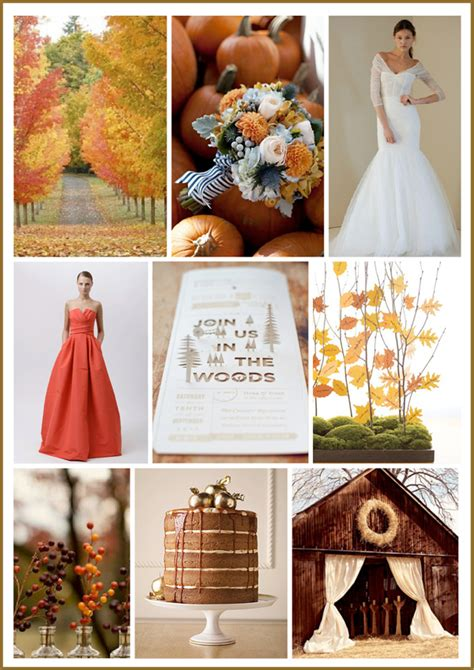 fall color schemes fall wedding color palette