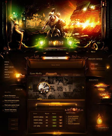 template after effects free ideal xtreme cyber9videos 25 rad web interface designs inspiration web design