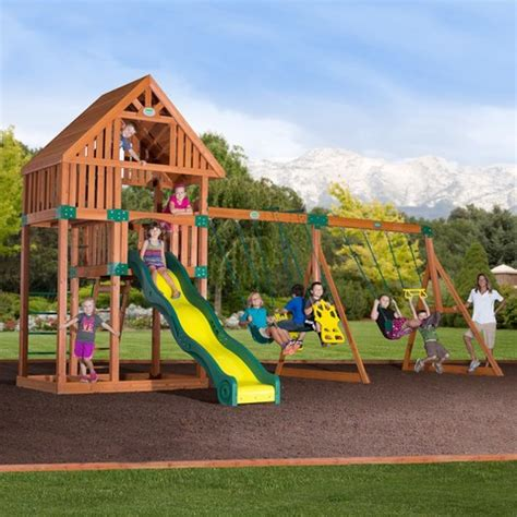 swing sets playground equipment quest wooden swing set playground playground equipment