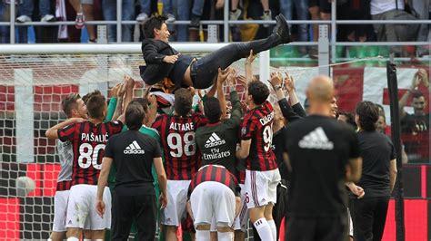 ac milan   celebrate europa league qualification