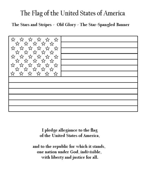 Pledge Allegiance Gif 670 215 820 Girl Scouts Pinterest Pledge Of Allegiance Coloring Page