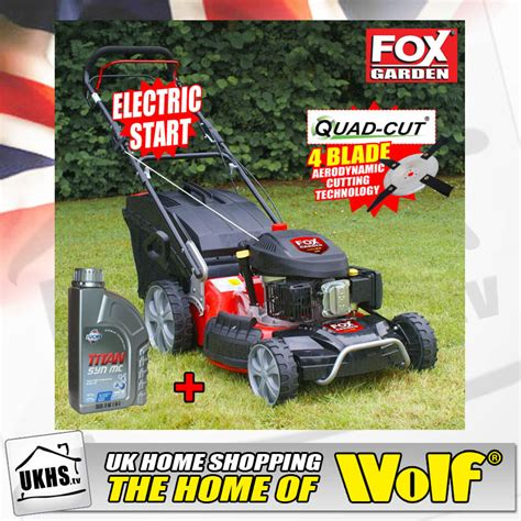 Kazel Suit Fox 4in1 1 fox 21 quot electric start quadcut 4in1 6 5hp self propelled