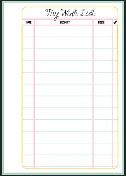 wish list template free free printable birthday list template calendar template 2016