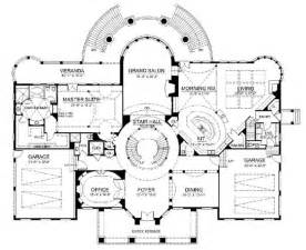 grand staircase floor plans european french home with 6 bdrms 9032 sq ft house