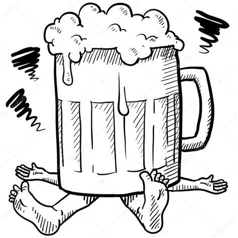 imagenes para dibujar sobre el alcoholismo zmiażdżony przez alkoholizm szkic grafika wektorowa