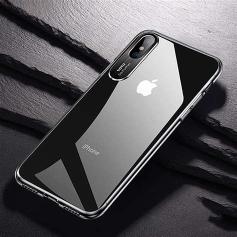 totudesign clear series transparent pc for iphone xs max black alexnld