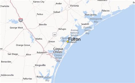 fulton texas map fulton weather station record historical weather for fulton texas