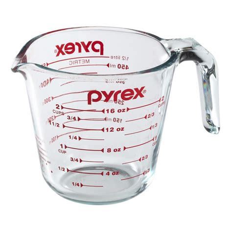 Easy Diy Projects For Home Decor by Pyrex Prepware 2 Cup Measuring Cup With Red Graphics