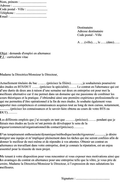 Exemple Lettre De Motivation Iut Lettre De Motivation Alternance Le Dif En Questions