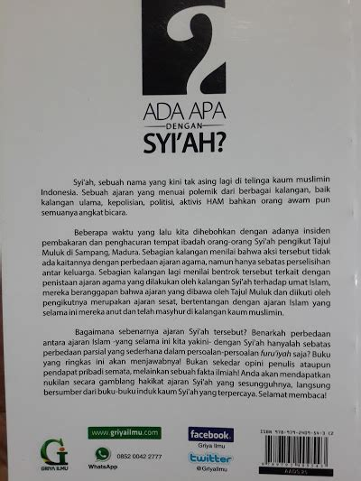 Buku Mukhtashar Al Fawaid Untaian Faidah Penuh Hikmah buku ada apa dengan syi ah menguak fakta ilmiah ajaran