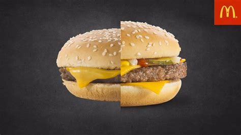 mcdonalds photo advertising  real burgers