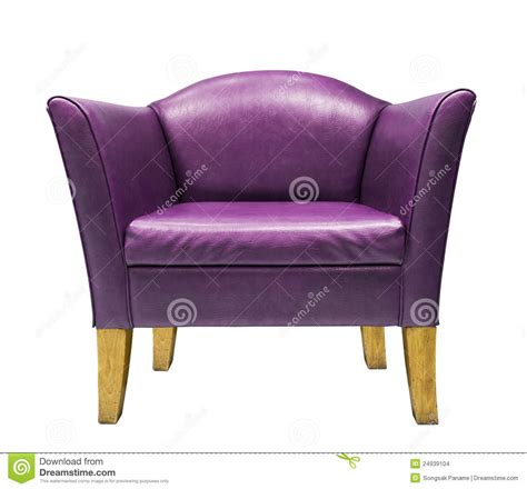 Purple Leather Armchair Expensive Purple Leather Armchair Stock Images Image