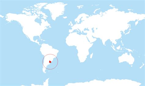 uruguay on a world map where is uruguay located on the world map