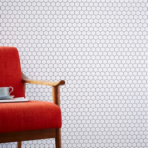 chasing paper removable wallpaper chasing paper removable wallpaper honeycomb tile west elm