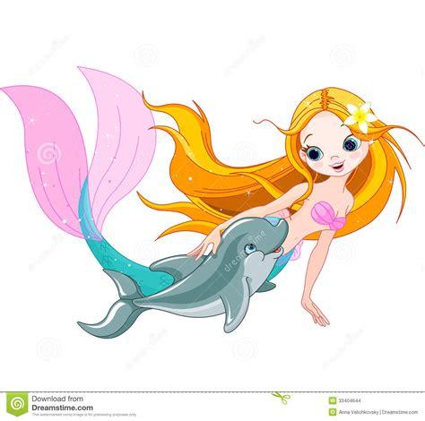 mermaid clip baby dolphin