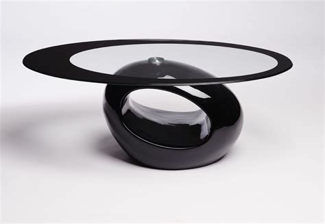 black glass top coffee table coffee table contemporary retro designed oval coffee