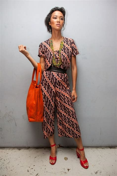 Jumpsuit Ethnic 879 best images about batik on fashion weeks batik blazer and fashion style